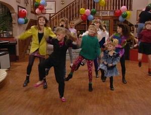 Full House living room dance party