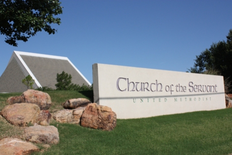 United Methodist Church, Church of the Servant is just over the road from Gaillardia.