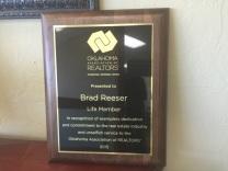 Brad OAR Life Member Award