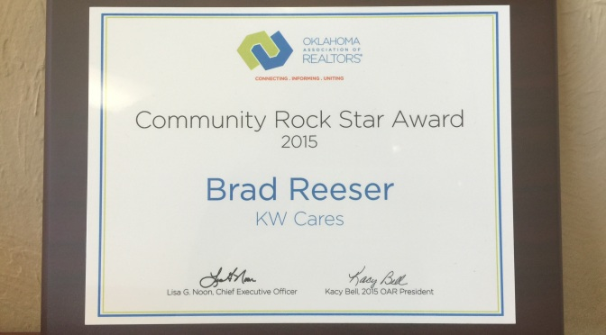 Brad Reeser Named Community Rock Star by Oklahoma Association of Realtors
